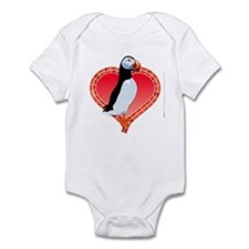Valentine's Day Puffin Red Infant Bodysuit
