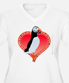 Valentine's Day Puffin Red T-Shirt