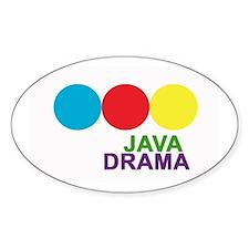Java Drama Oval Decal