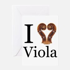 I Love Viola Greeting Card