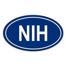 NIH Oval Decal