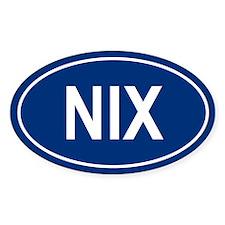 NIX Oval Decal