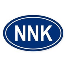 NNK Oval Bumper Stickers