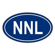 NNL Oval Bumper Stickers