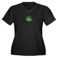 Stoned Women's Plus Size V-Neck Dark T-Shirt