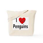I Love Penguins for Penguin Lovers Tote Bag