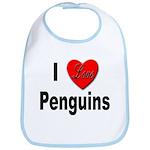 I Love Penguins for Penguin Lovers Bib