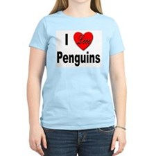 I Love Penguins for Penguin Lovers Women's Pink T-