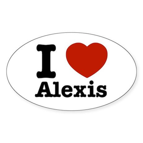 I love Alexis Oval Sticker