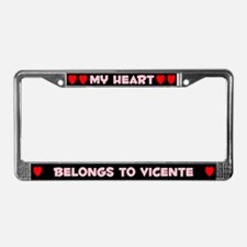 My Heart: Vicente (#002) License Plate Frame