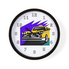 Taxi Cab Driver Wall Clock