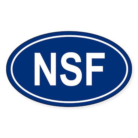 NSF Oval Sticker
