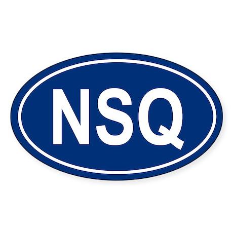 NSQ Oval Sticker