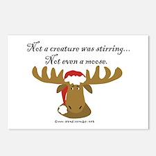 Moose Christmas Postcards (Package of 8)