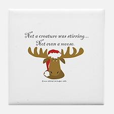 Moose Christmas Tile Coaster