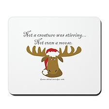 Moose Christmas Mousepad