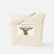Moose Christmas Tote Bag