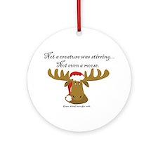 Moose Christmas Ornament (Round)
