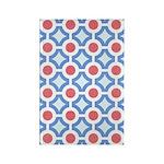 Vintage 60s Mod Print Rectangle Magnet (10 pack)