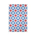 Vintage 60s Mod Print Rectangle Magnet (100 pack)