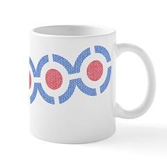 Vintage 60s Mod Print Ceramic Coffee Mug