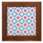 Vintage 60s Mod Print Framed Tile