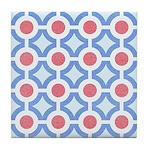 Vintage 60s Mod Print Tile Drink Coaster