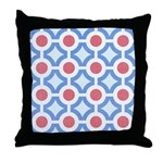 Vintage 60s Mod Print Throw Pillow