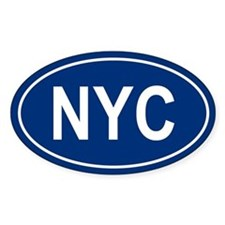 NYC Oval Decal