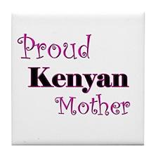 Proud Kenyan Mother Tile Coaster