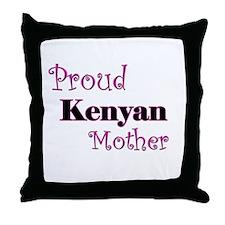 Proud Kenyan Mother Throw Pillow