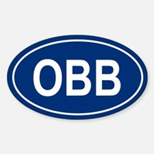 OBB Oval Decal