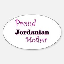 Proud Jordanian Mother Oval Decal