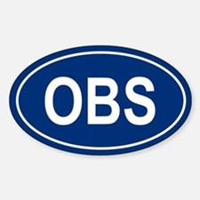 OBS Oval Decal