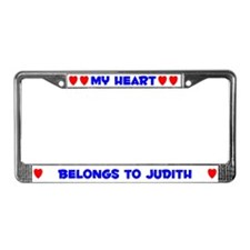 My Heart: Judith (#005) License Plate Frame