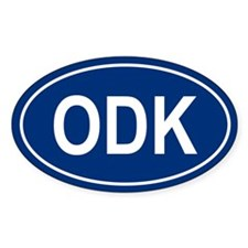 ODK Oval Bumper Stickers