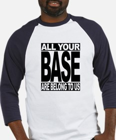 Funny All your base belong us Baseball Jersey