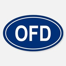 OFD Oval Decal
