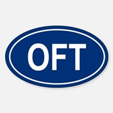 OFT Oval Decal