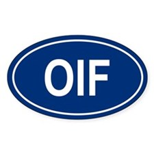 OIF Oval Bumper Stickers