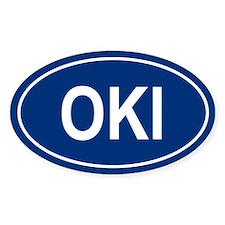 OKI Oval Decal