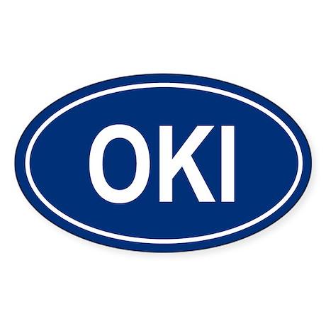 OKI Oval Sticker