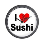 I Love Sushi for Sushi Lovers Wall Clock