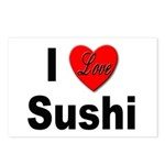I Love Sushi for Sushi Lovers Postcards (Package o