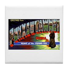 Punxsutawney Pennsylvania Groundhogs Day Tile Coas