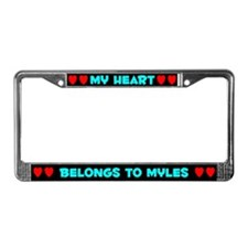 My Heart: Myles (#003) License Plate Frame