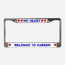 My Heart: Kareem (#005) License Plate Frame