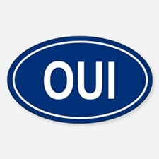 OUI Oval Decal