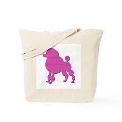 Retro Pink Poodle Tote Bag