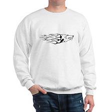Black Wolf flames Sweatshirt